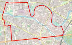 Abteilungsgebiet auf der Karte